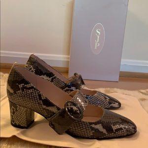 SJP by Sarah Jessica Parker Shoes - SJP Gray Snake Print - Women's Mary Jane Pumps